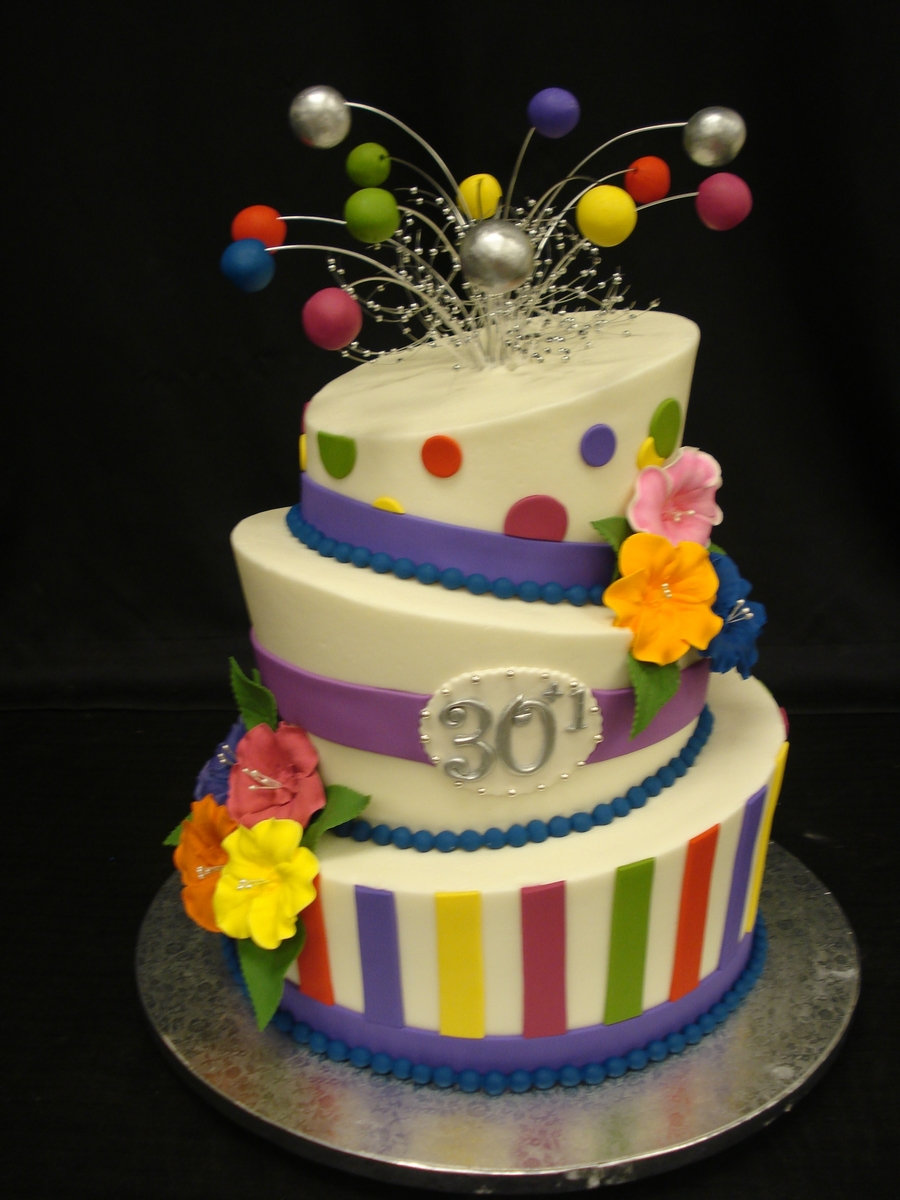 Colorful Topsy on Cake Central
