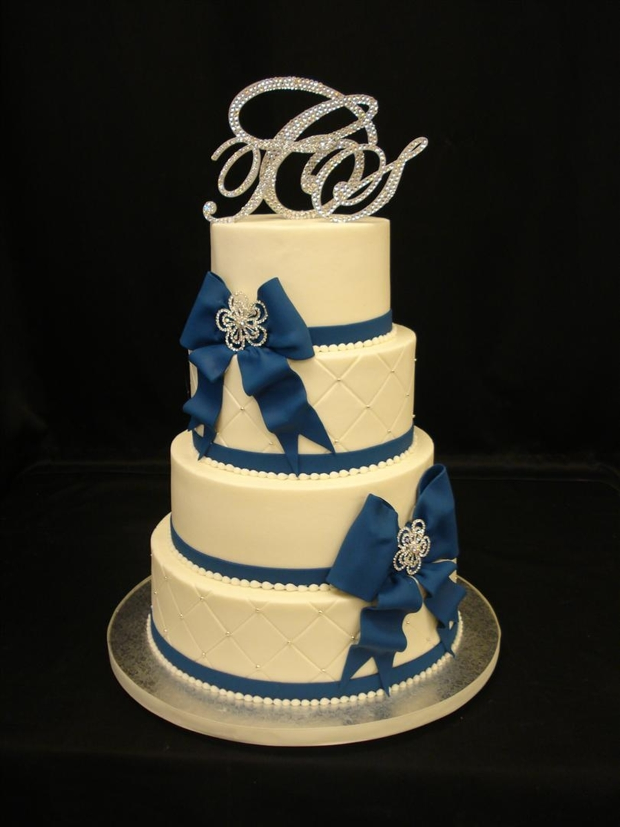 Blue Bows on Cake Central