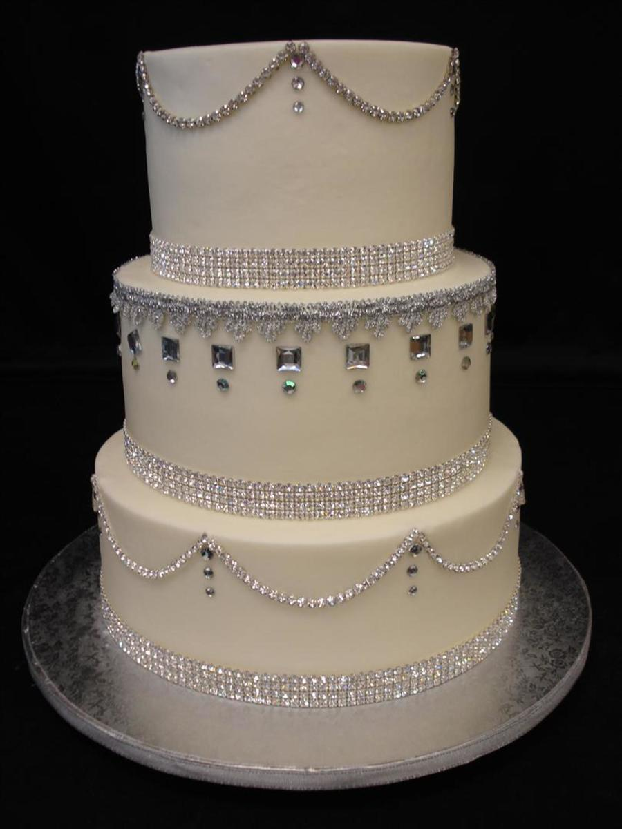 bling wedding cake designs bling everywhere cakecentral 11925