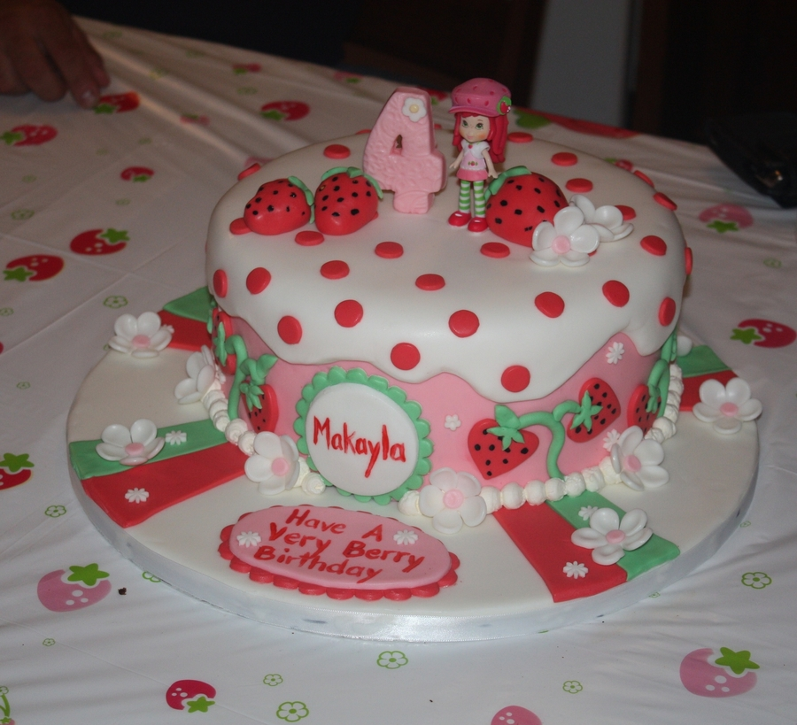 Strawberry Shortcake Themed Cake on Cake Central
