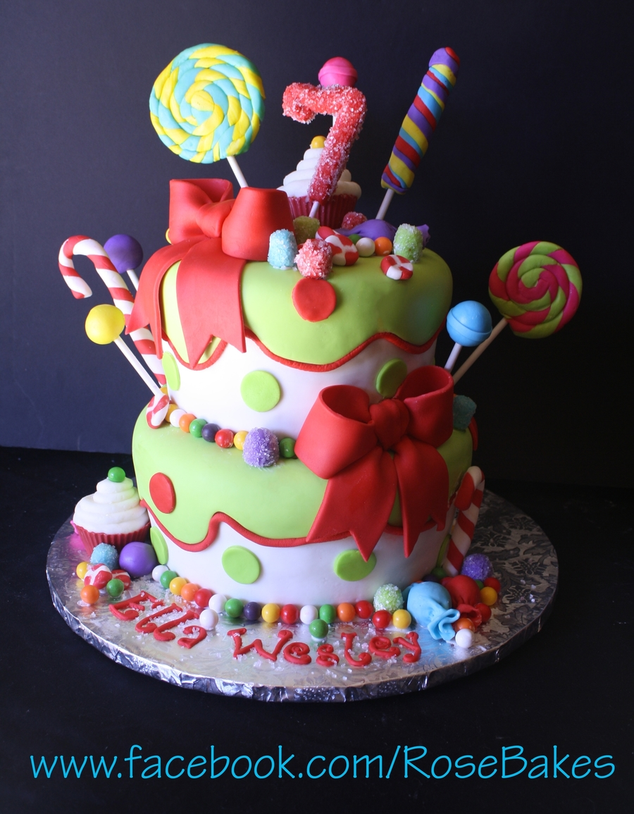 Holly Jolly Christmas Birthday Cake Cakecentral