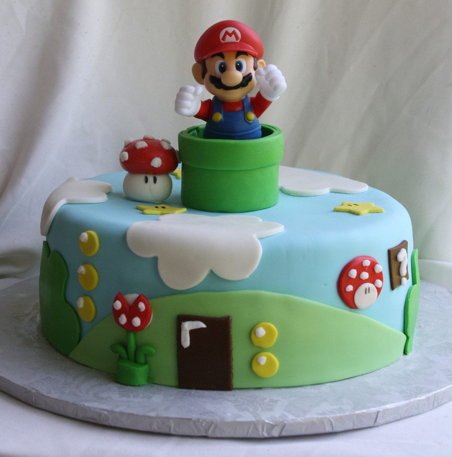 Super Mario Bros Cake CakeCentralcom