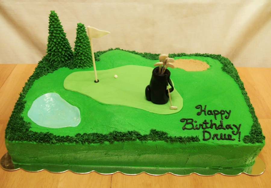 Golf Themed Birthday Cake - CakeCentral.com