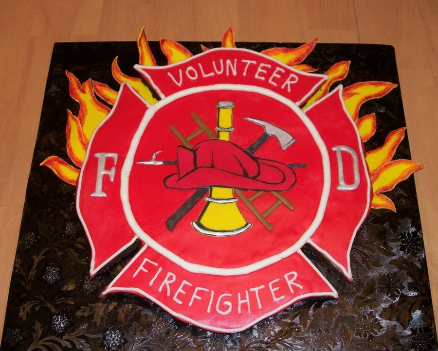 Firefighter Symbol Brownie Cake Cakecentral Com