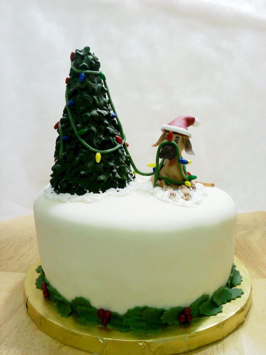 Great Dane And Tree  on Cake Central