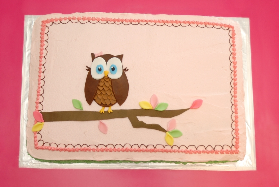 Owl Birthday Party on Cake Central