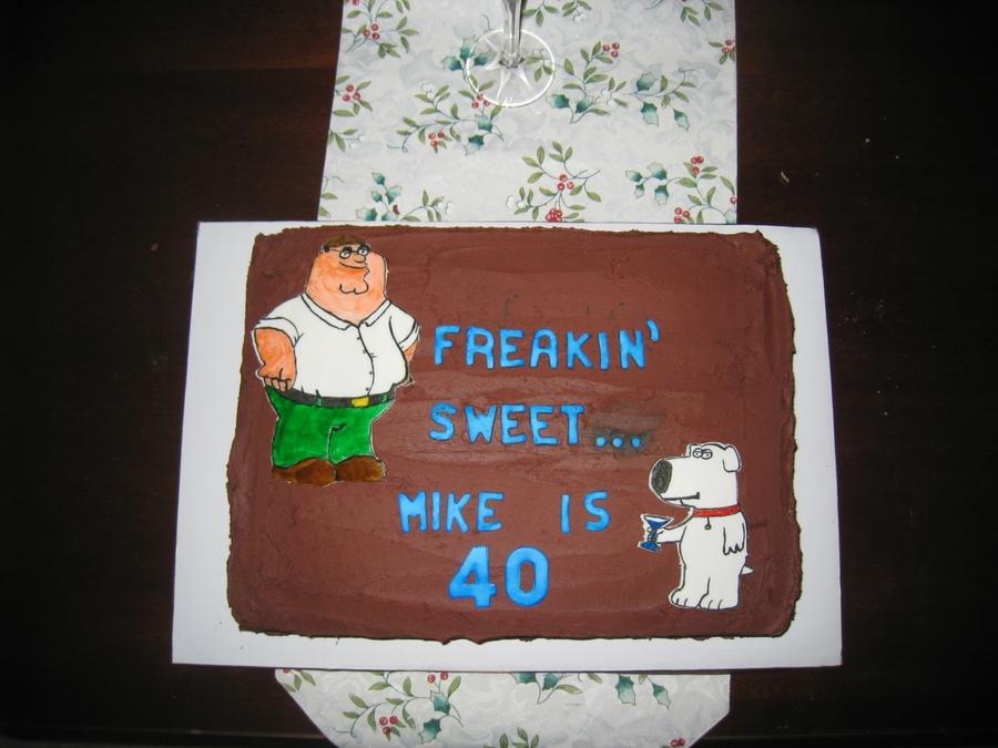 Awesome Family Guy 40Th Birthday Cakecentral Com Funny Birthday Cards Online Elaedamsfinfo