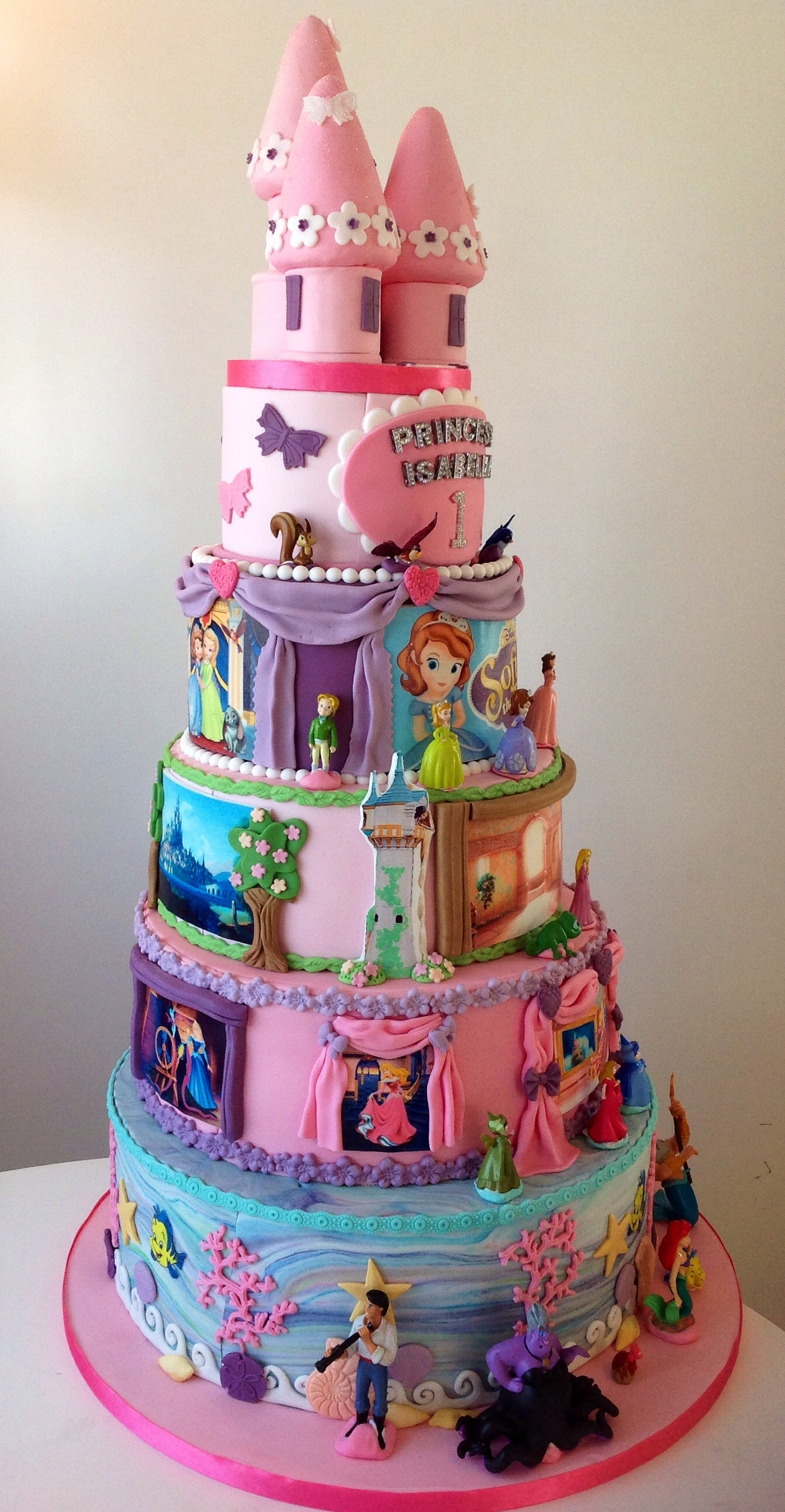 Disney Princess 1St Birthday Cake CakeCentralcom