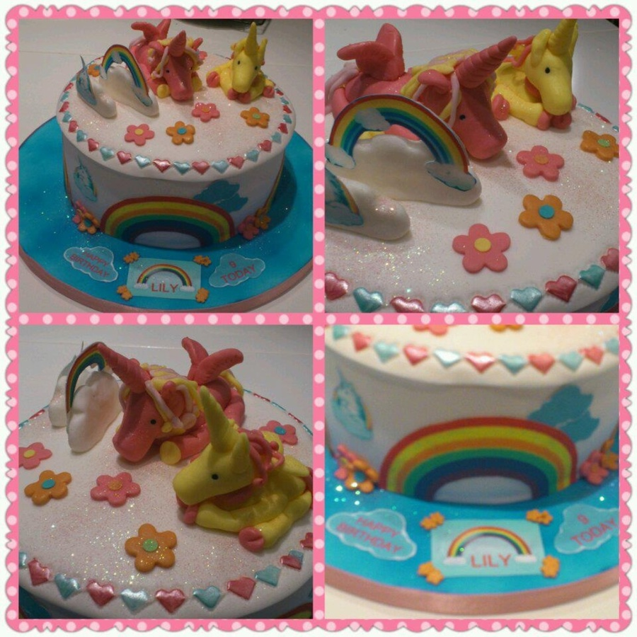 Unicorn Rainbow Cake. on Cake Central