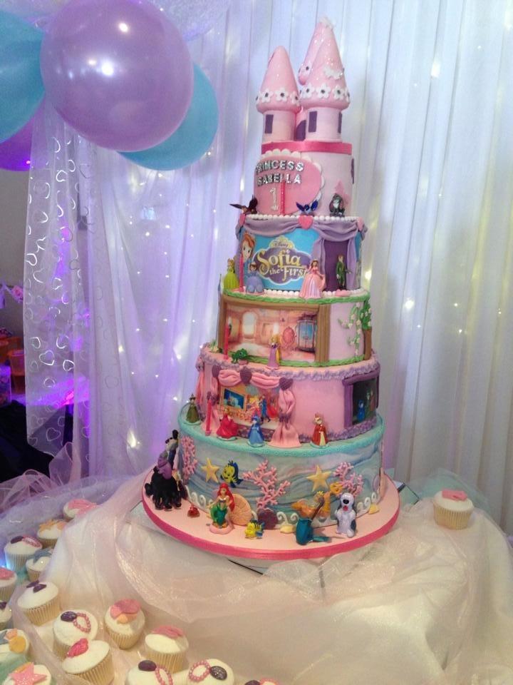 Disney Princess First Birthday Cakes