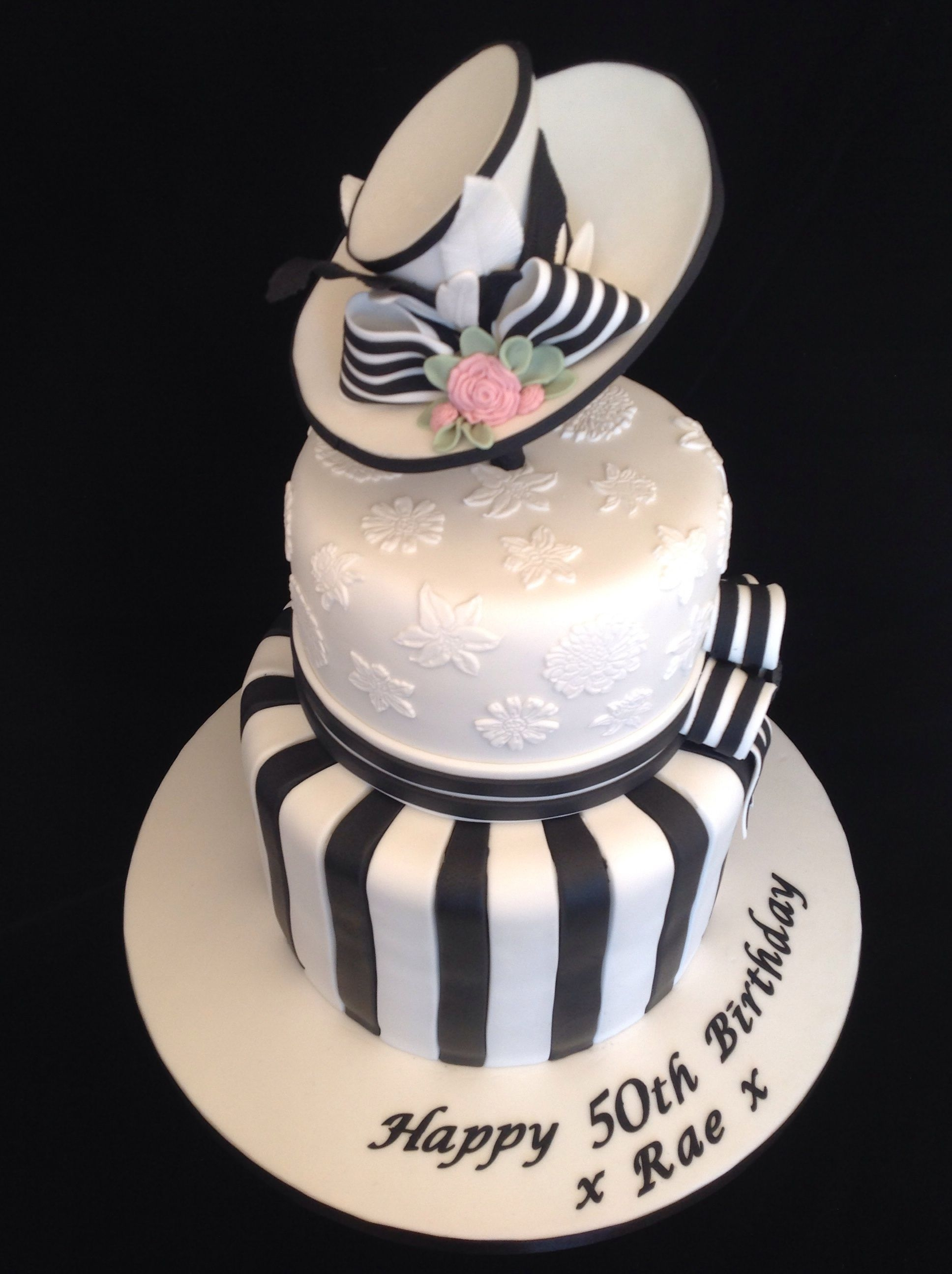 Swell Black And White My Fair Lady Birthday Cake Cakecentral Com Funny Birthday Cards Online Fluifree Goldxyz
