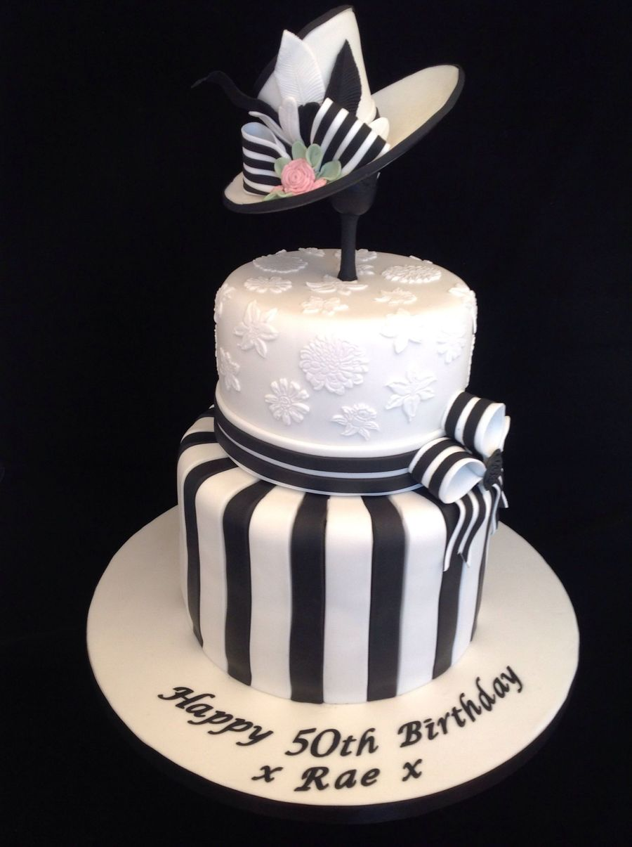 Black And White My Fair Lady Birthday Cake