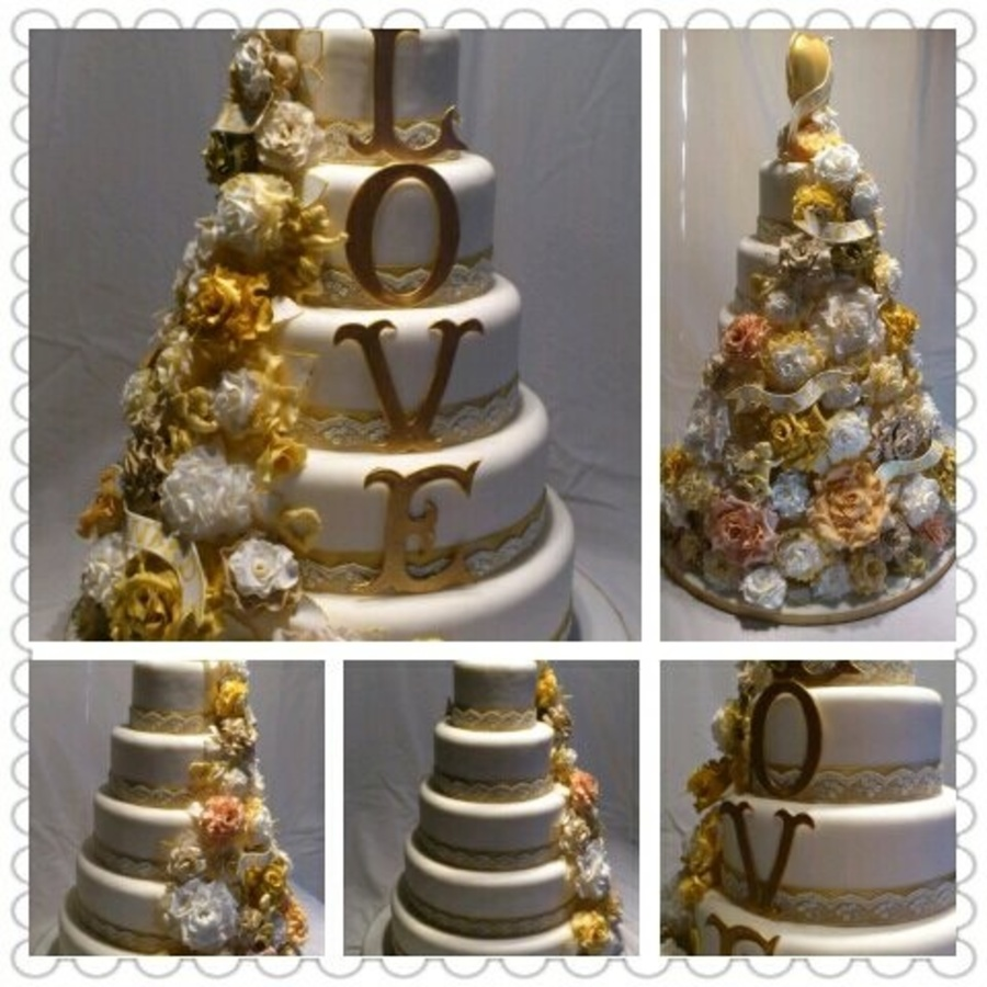 Vintage Style Wedding Cake. on Cake Central