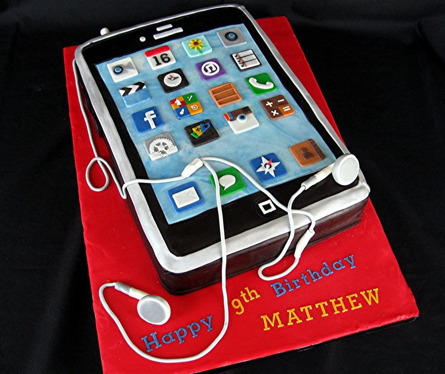 Iphone Birthday Cake CakeCentralcom