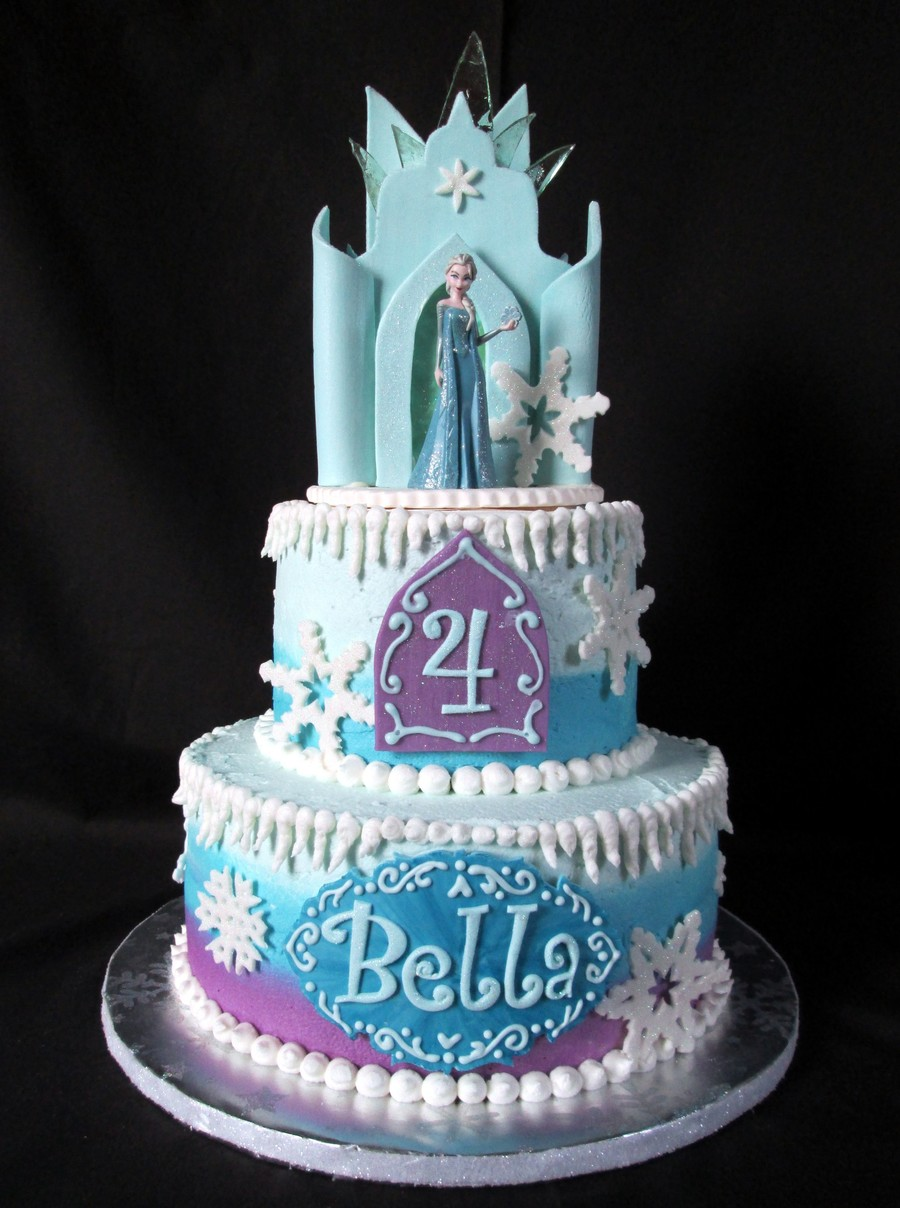 Frozen Ice Castle Cake CakeCentralcom