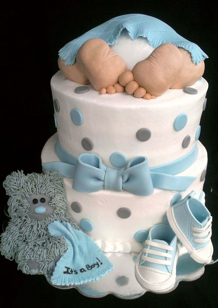 baby rump baby shower cakeits a boy vanilla cake with buttercream icing fondant accents teddy. Black Bedroom Furniture Sets. Home Design Ideas
