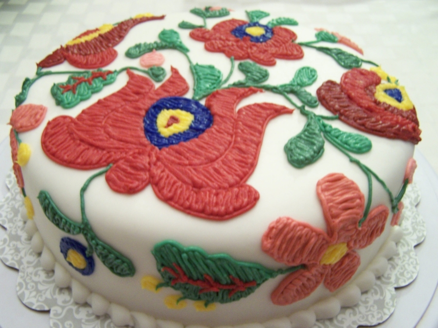 Hungarian Needlepoint Cake Cakecentral Com