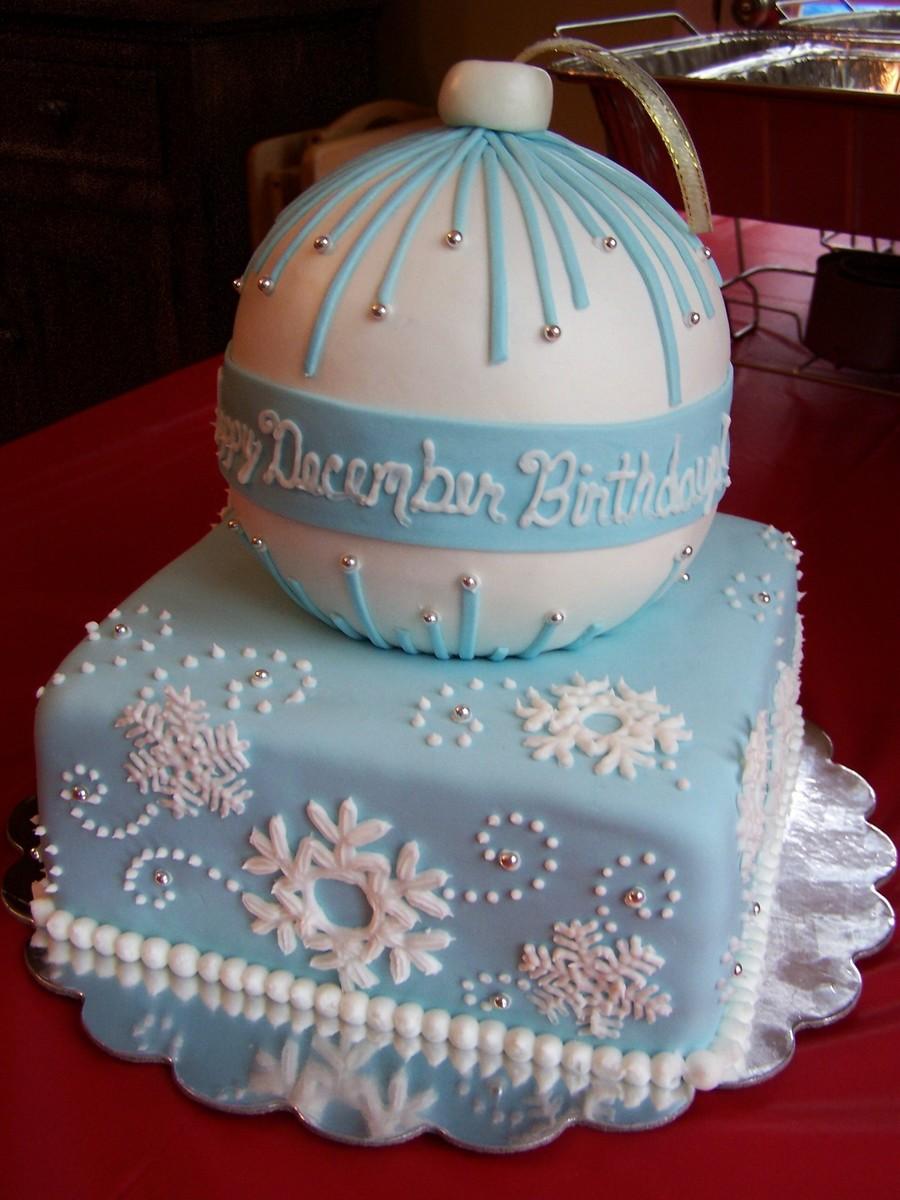 Snowflakeornament Birthday Cake For 4 Family Members ...