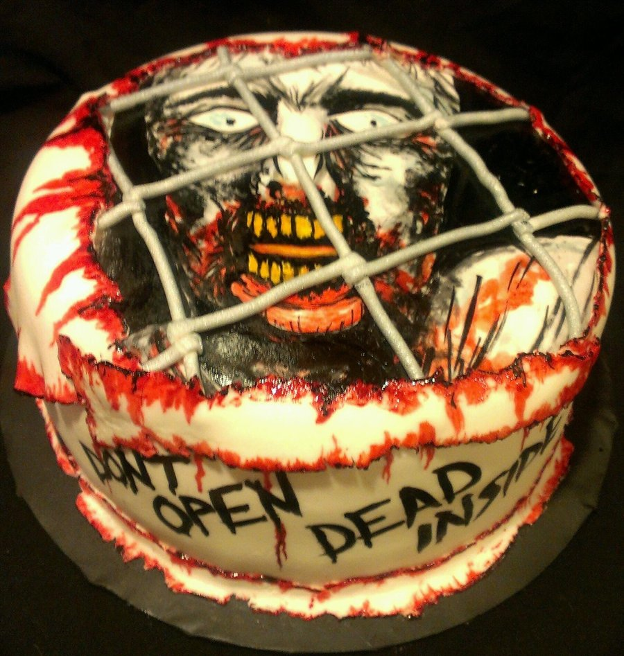 Birthday Walking Dead Cake