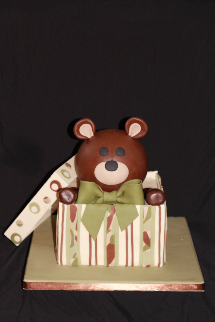 Teddy Bear In A Box on Cake Central