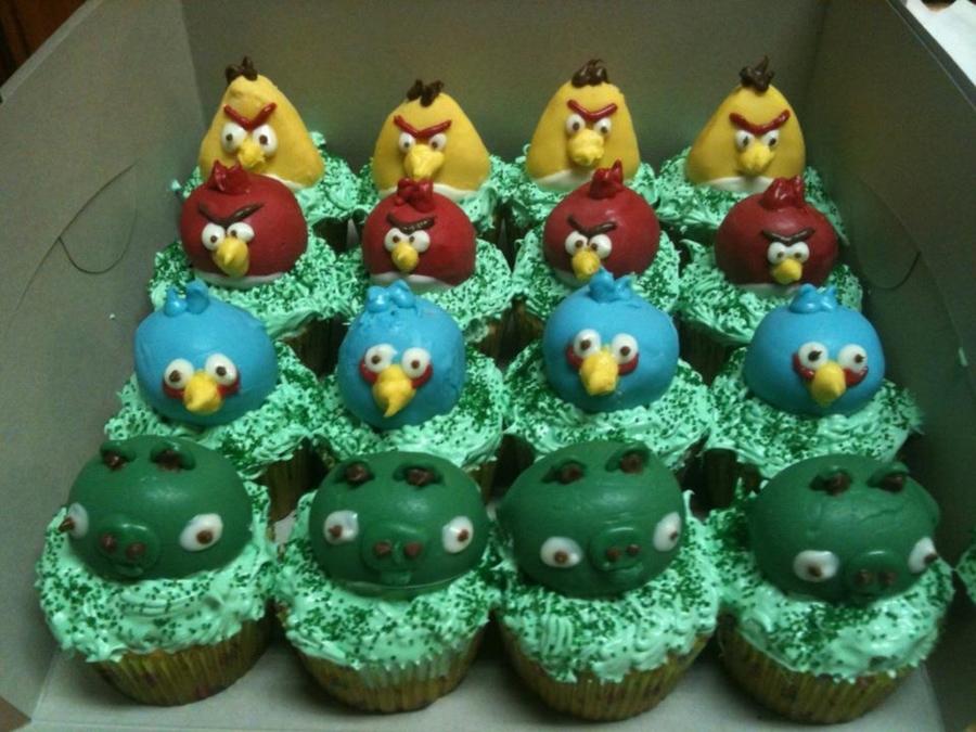 Angry Birds Cake Balls on Cake Central