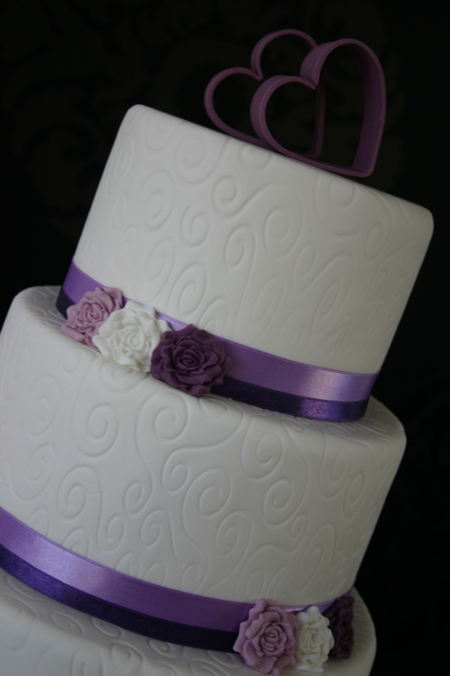purple wedding cake images white purple wedding cake cakecentral 18918
