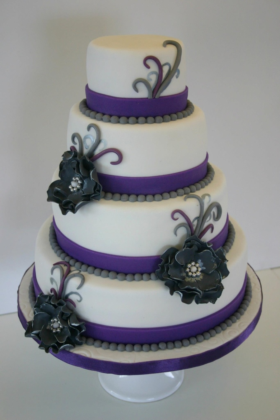 Wedding Cakes All White With Flowers