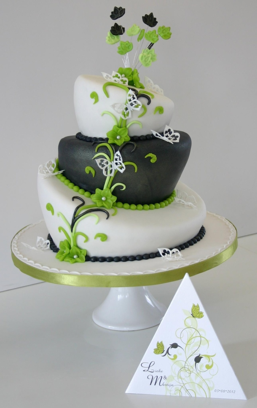 Green Grey Wedding Topsy on Cake Central