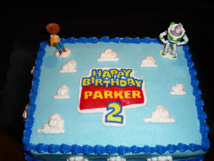Buzz Lightyear Number Sheet Cake