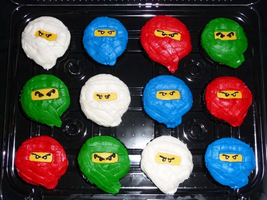 Lego Ninjago Cupcakes on Cake Central