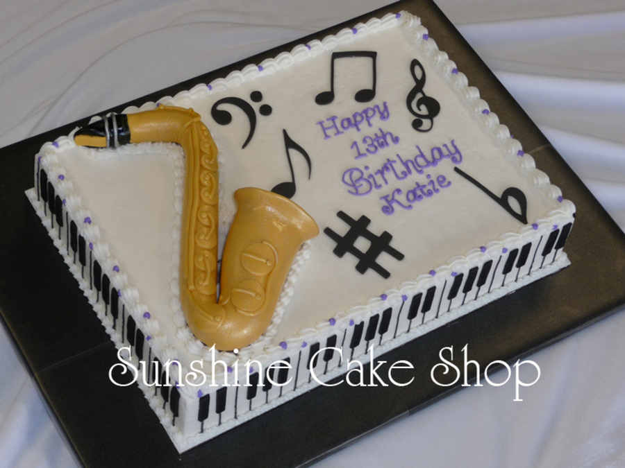 Saxophone Cake Decorations