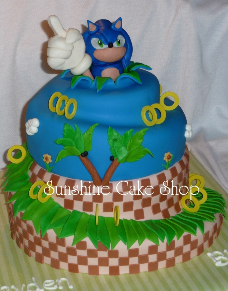 Sonic The Hedgehog Spiral Cake Cakecentral