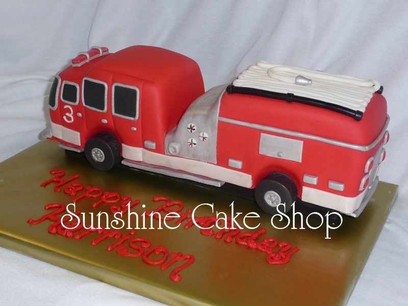 3D Fire Truck The Mom Gave Me Some Really Cute Candles To Go On Cake Board After I Delivered So Dont Have A Photo With Those There