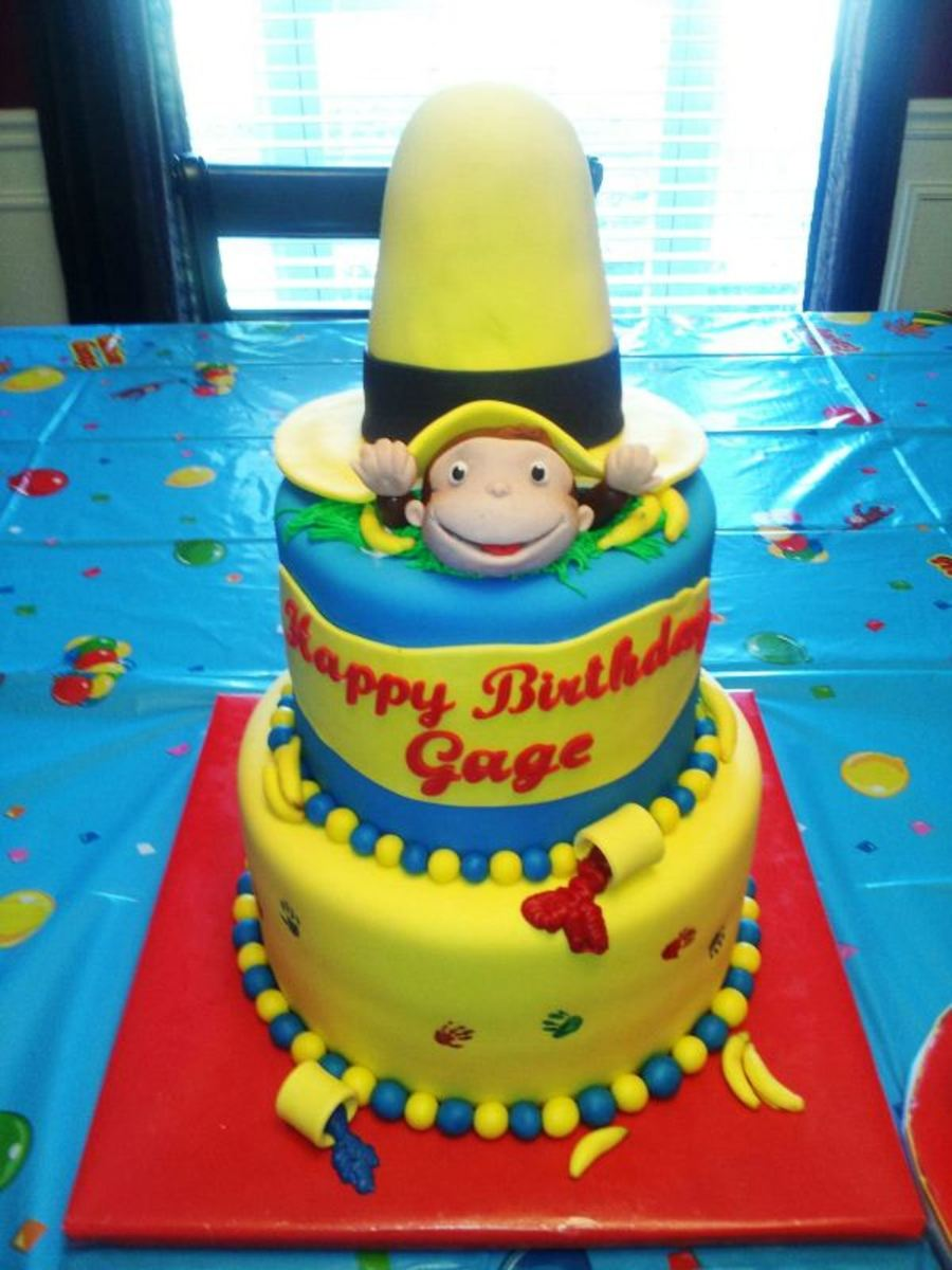 curious george 1st birthday cakecentralcom