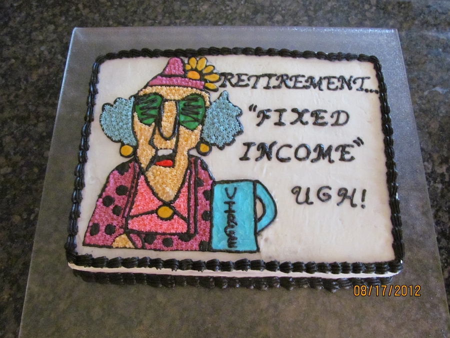 Maxine Retirement Cake on Cake Central