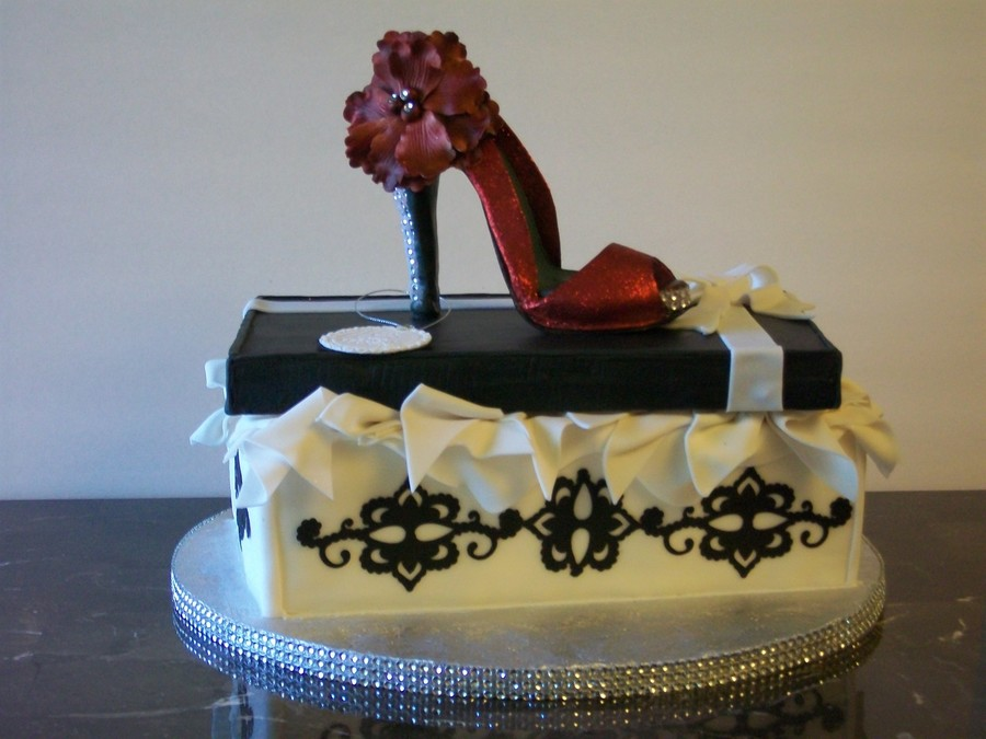 Red Shoe Cake  on Cake Central