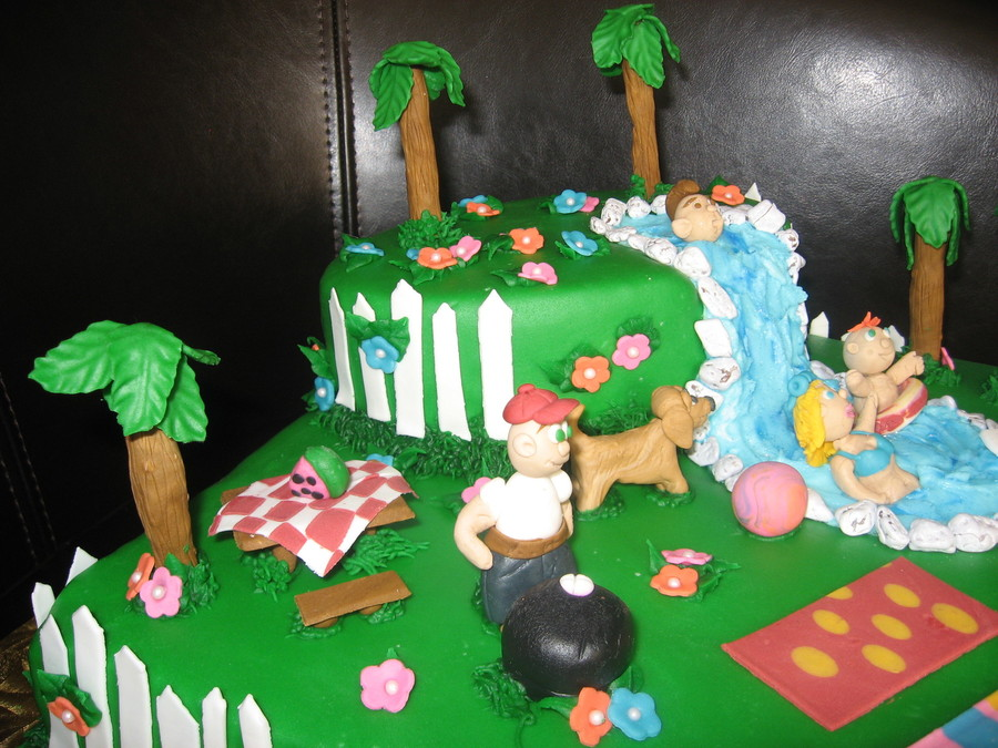 backyard blast wilton joann 39 s cake challenge