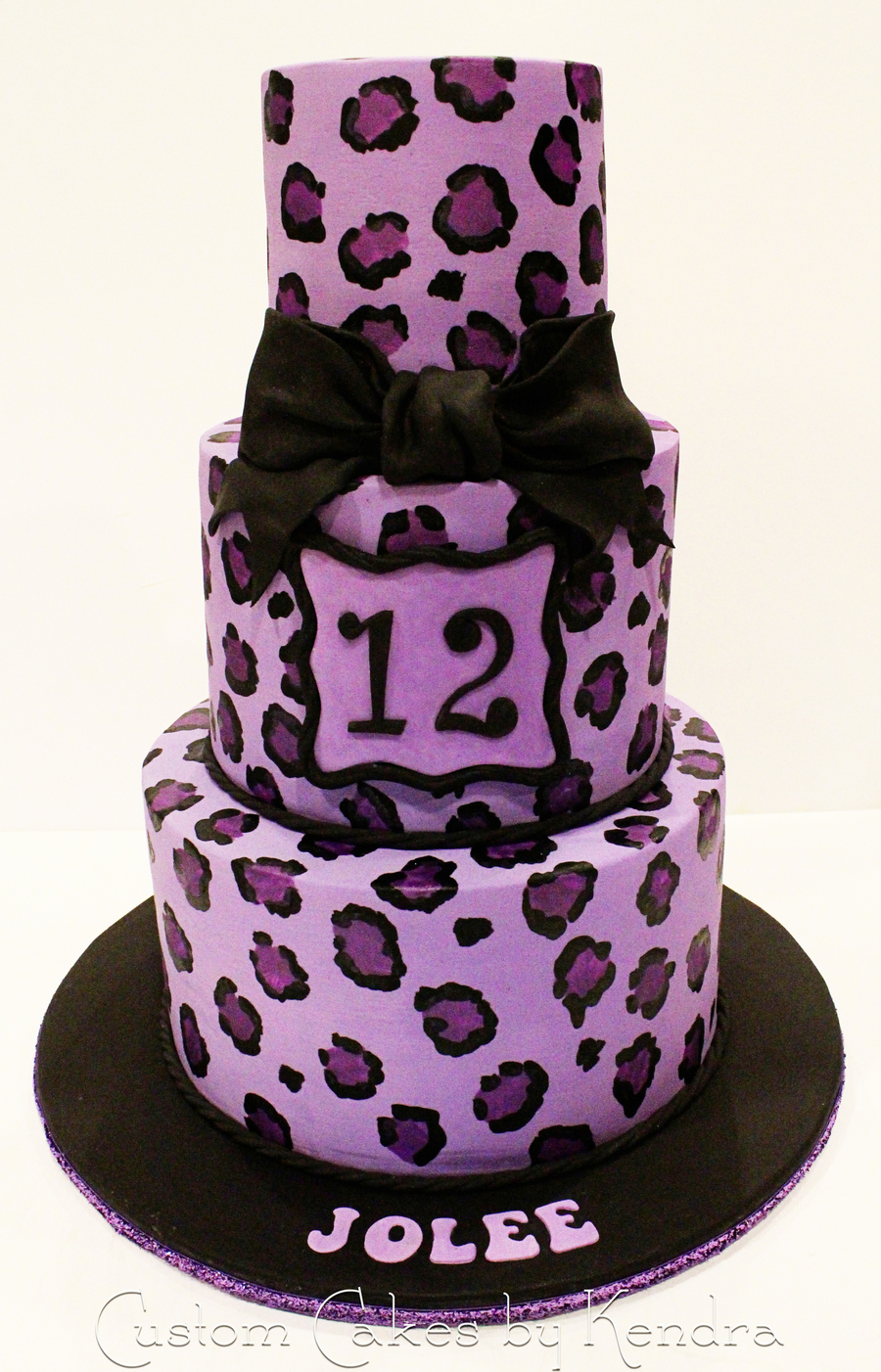 Purple Leopard on Cake Central