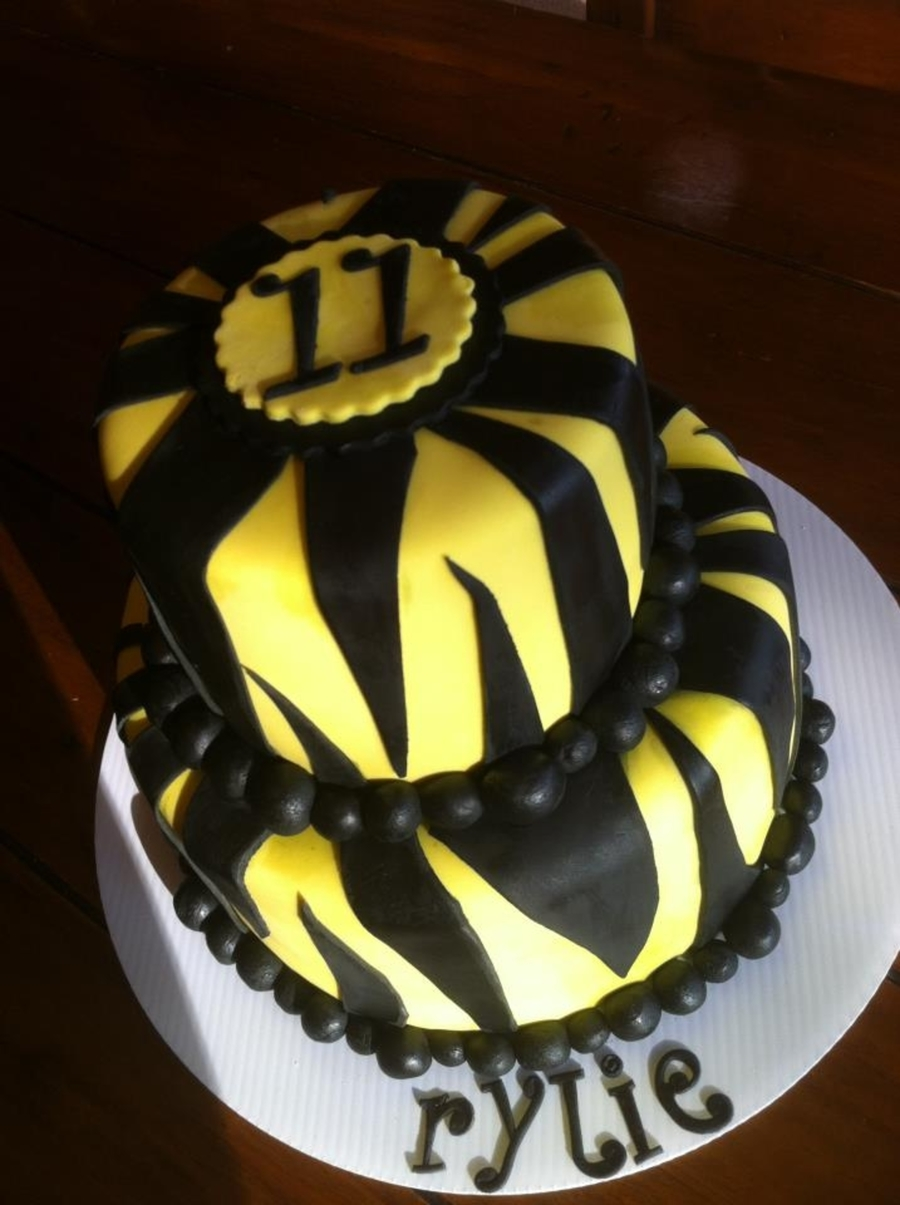Yellow Zebra on Cake Central