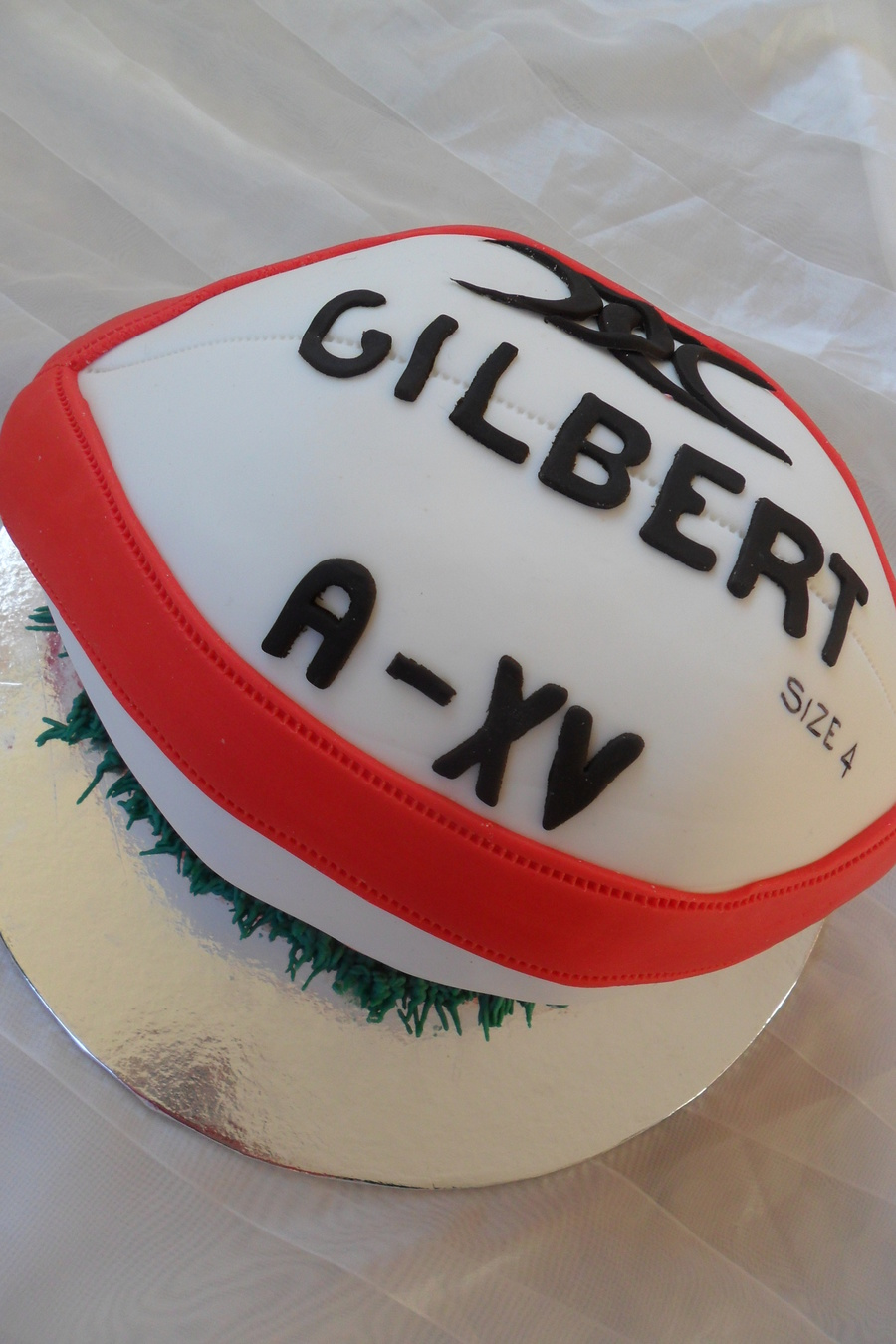 Rugby Ball Cake on Cake Central