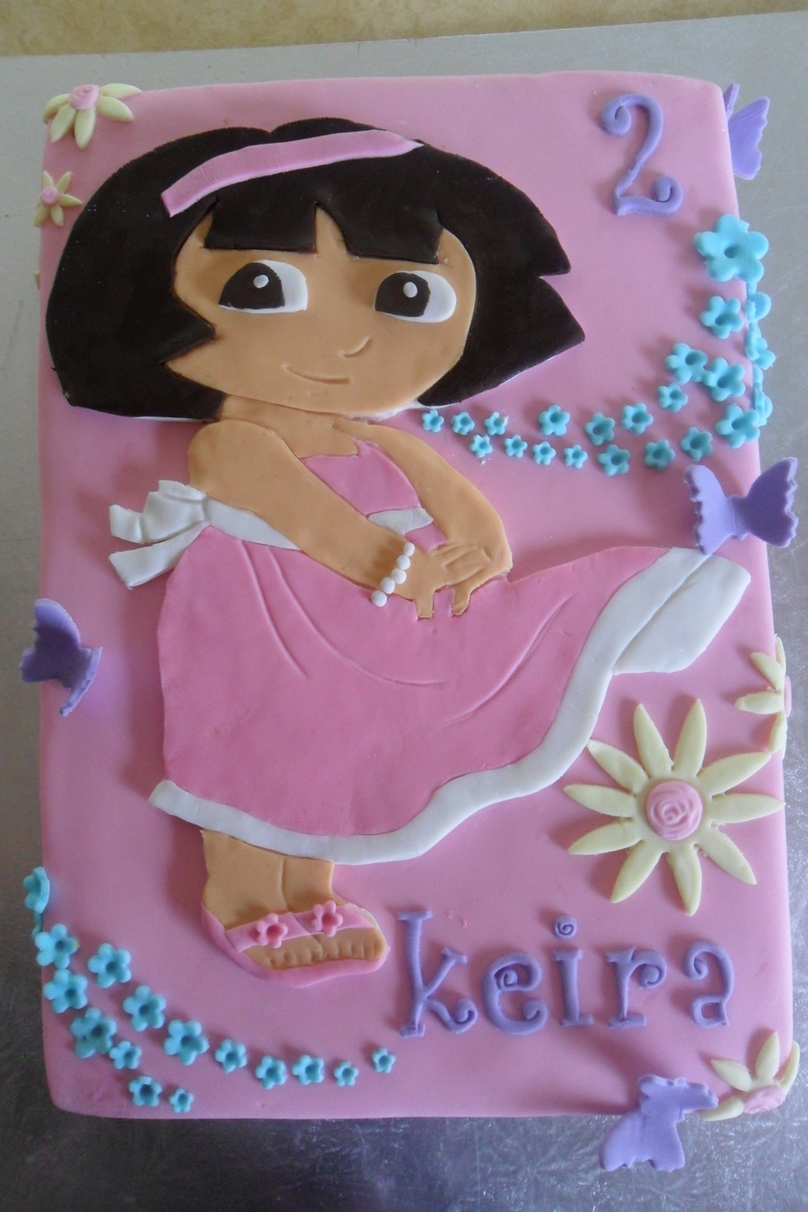 Pretty In Pink Dora on Cake Central