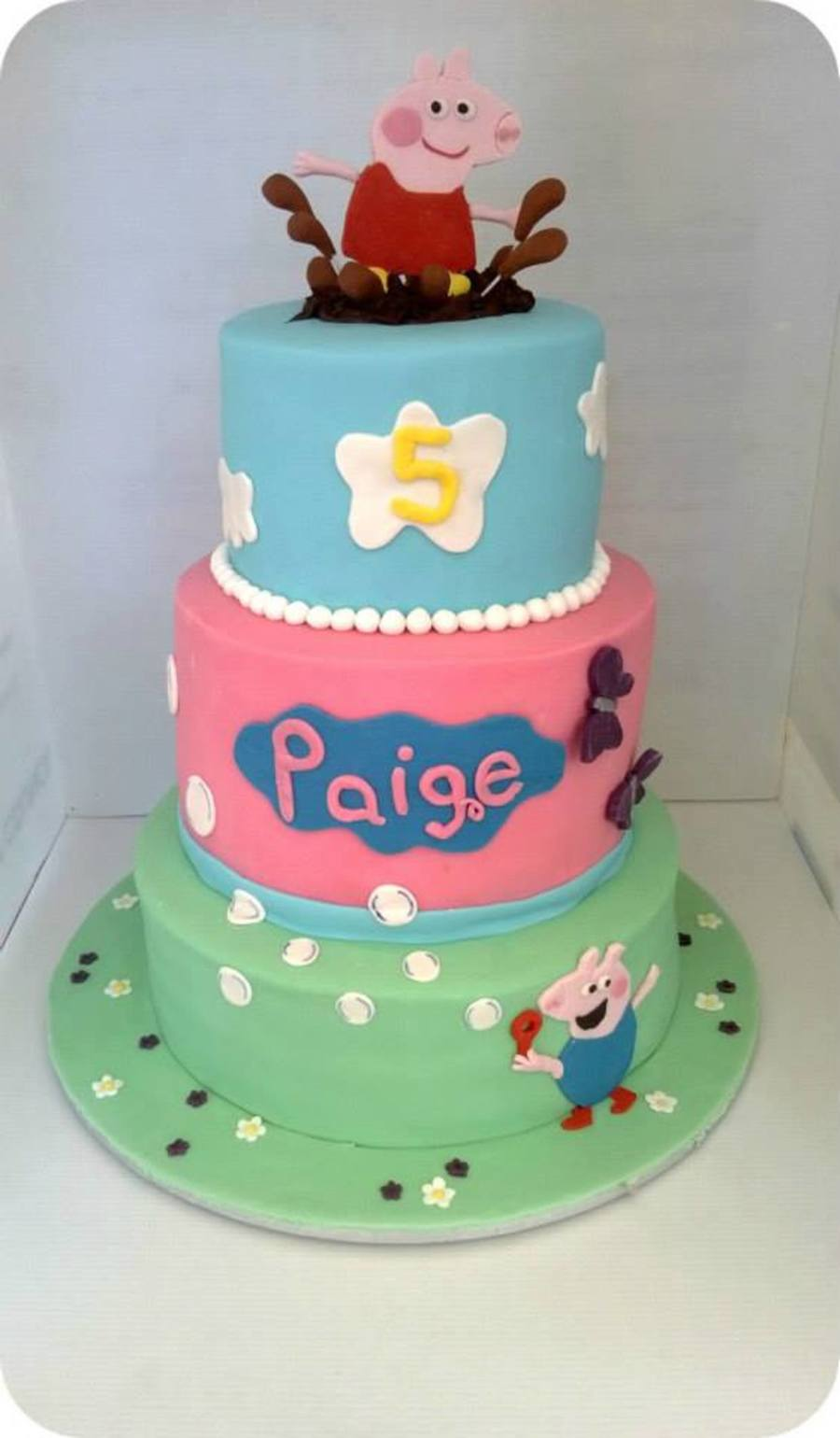 Peppa Pig Sugar Cake Toppers