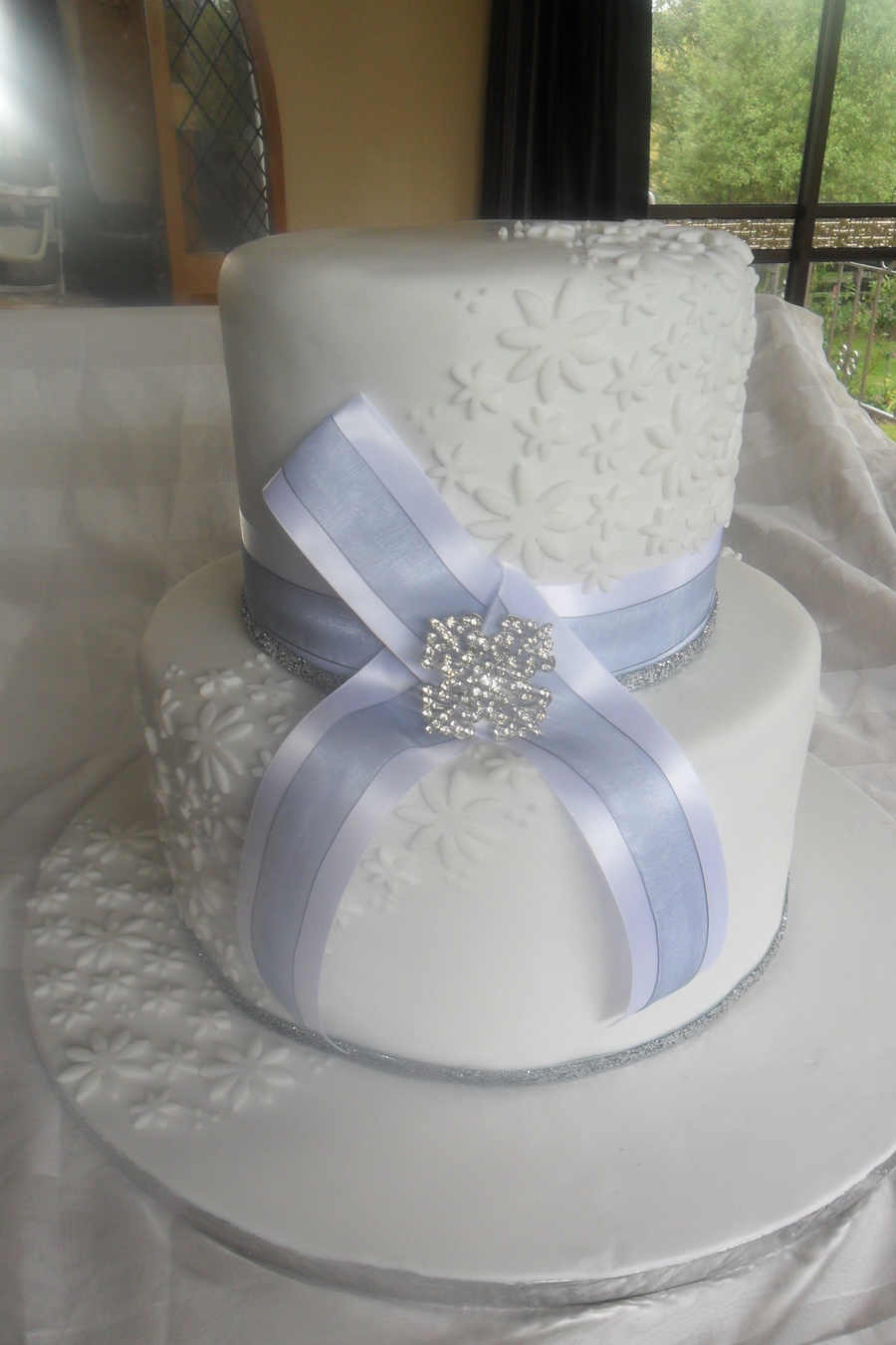 Brooch Wedding Cake on Cake Central