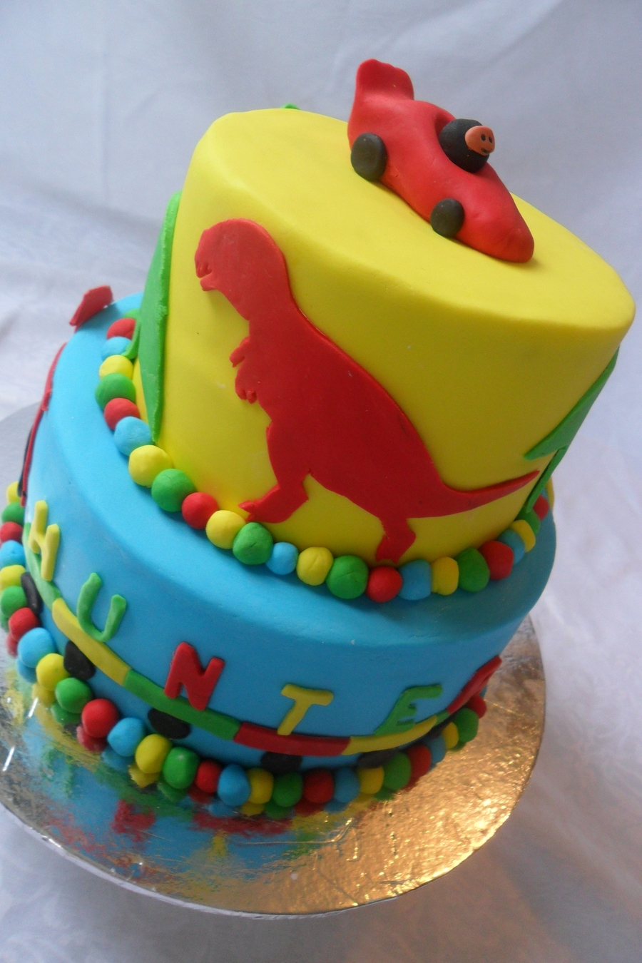 Dino/transport Cake on Cake Central
