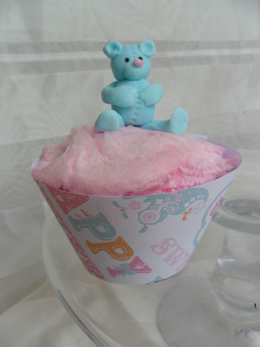Candyfloss Bear on Cake Central