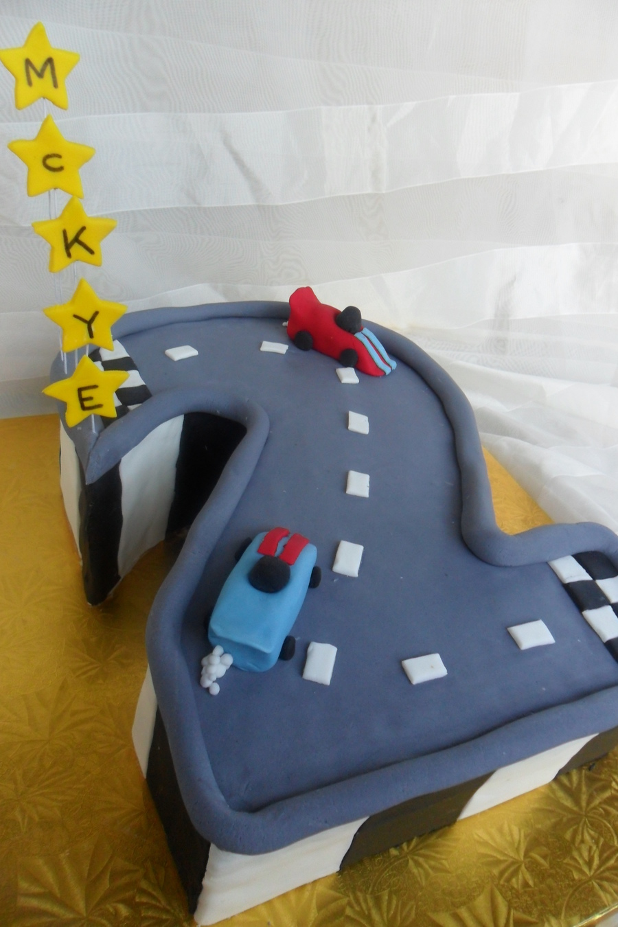 Racing Number 2 on Cake Central