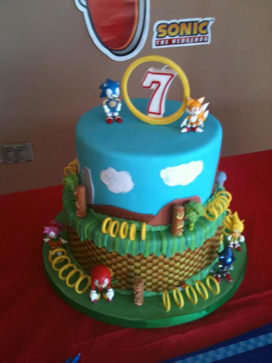 Sonic Cake Decorations