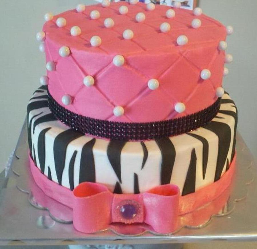 Zebra Diva Cake CakeCentralcom