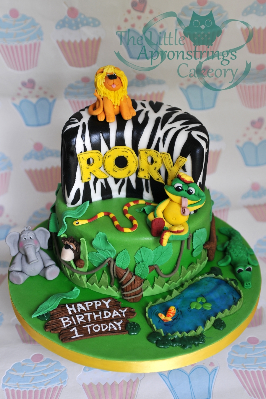 Jungle Theme Birthday Cake on Cake Central