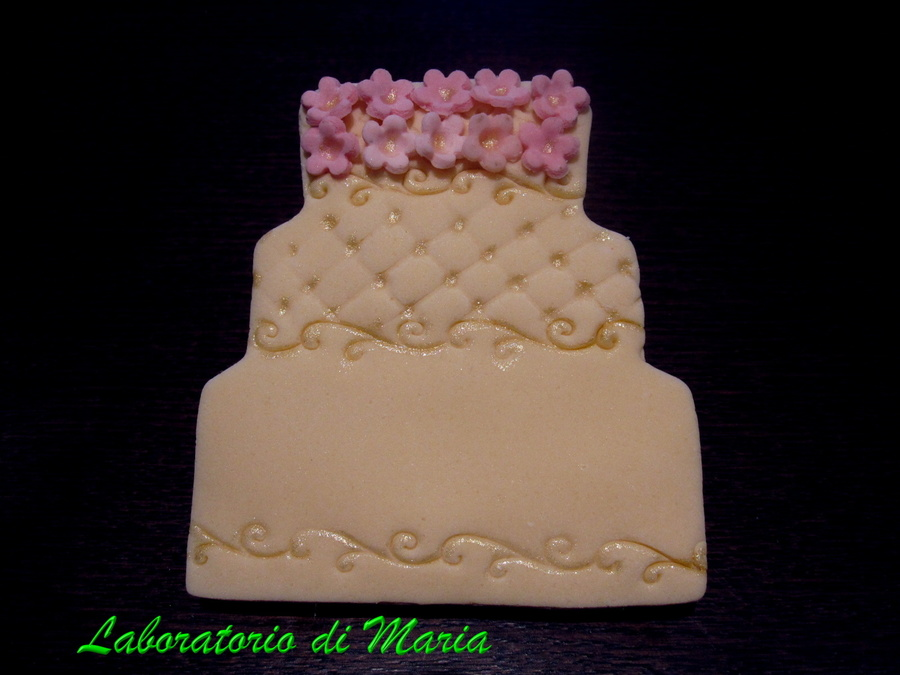 Wedding Cake Cookie on Cake Central
